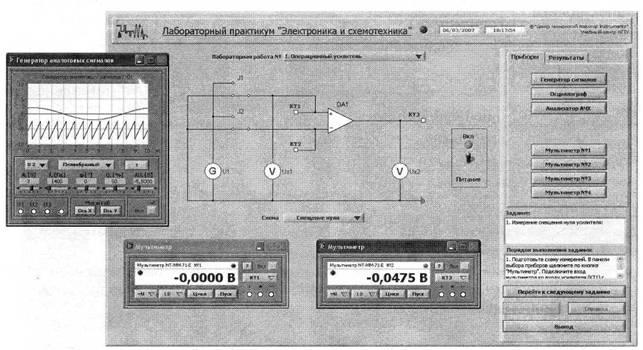 Экранная панель лабораторного
