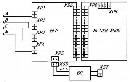 Схема соединения БГР и